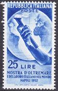 REPUBBLICA 1952 Mostra D'Oltremare E Del Lavoro Italiano Nel Mondo A Napoli Sass. 691 - Mi. 863 Serie Cpl. 1v. Nuovi** - 1946-60: Mint/hinged