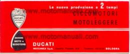 Ducati Ciclomotori 48 90 Produzione 1965 Depliant Originale Factory Original Brochure - Moteurs