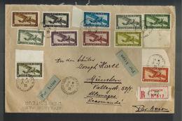 1936 Saigon Vietnam  Airmail Oversize Cover To Munich Germany Via Tientsin Paris - Vietnam
