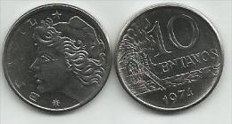 Brazil 10 Centavos 1974. UNC - Brésil