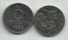 Brazil 5 Centavos 1969. UNC - Brésil