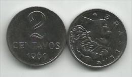 Brazil 2 Centavos 1969. High Grade - Brésil