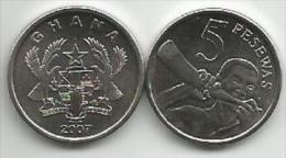 Ghana 5 Pesewas 2007. UNC - Ghana