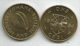 Ghana 1 Cedi 1984. UNC - Ghana