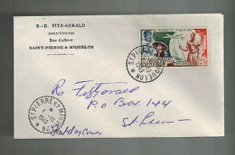 1949 St Pierre Miquelon First Day Cover FDC Local UPU Dentist R D Fitzgerald C18 - Europe (Other)
