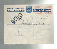 1939 Tel AViv Palestine Meter Cover Municipal Corporation - Palestine