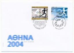 SUISSE -  FDC 2004 - Timbres De Service Du Comité International Olympique - 5 Enveloppes - Summer 2004: Athens
