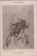Peintre °° V. Bernard . Eau Forte - Provence . Un Vieux Pêcheur - 9x14 -  ***  NEUVE - Pintura & Cuadros