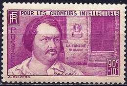 France 1939 - The Writer, Honoré De Balzac ( Mi 452 - YT 438 ) MH* - France