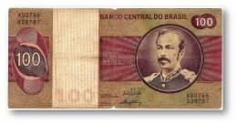 BRASIL - 100 CRUZEIROS - ND ( 1970 - 81 ) - P 195 - Serie 765 - Sign. 17 - Prefix A - Marshal Floriano Peixoto - Brasil