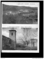 D  03 10 (ct QUILLAN ), Saint Louis Et Parahou, Vue Générale, L´église, Entrée Du Château. - Otros Municipios