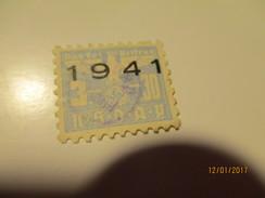 GERMANY WW II NSDAP MEMBER FEE STAMP 1941 , USED ,0 - Deutschland