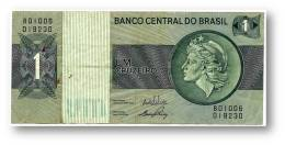 BRASIL - 1 CRUZEIRO - ND ( 1972 ) - P 191A.a - Serie 1006 - Sign. 17 - Prefix B - LIBERTY - Brazil