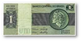 BRASIL - 1 CRUZEIRO - ND ( 1972 ) - P 191A.a - Serie 1022 - Sign. 17 - Prefix B - LIBERTY - Brazil