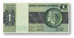 BRASIL - 1 CRUZEIRO - ND ( 1972 ) - P 191A.a - Serie 1078 - Sign. 17 - Prefix B - LIBERTY - Brazil