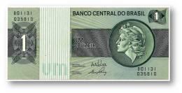 BRASIL - 1 CRUZEIRO - ND ( 1972 ) - P 191A.a - Serie 1131 - Sign. 17 - Prefix B - LIBERTY - Brasile