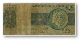 BRASIL - 1 CRUZEIRO - ND ( 1972 ) - P 191A.a - Serie 2224 - Sign. 17 - Prefix B - LIBERTY - Brazil