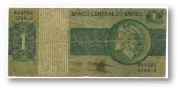 BRASIL - 1 CRUZEIRO - ND ( 1975 ) - P 191A.b - Serie 4394 - Sign. 18 - Prefix B - LIBERTY - Brésil