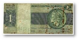 BRASIL - 1 CRUZEIRO - ND ( 1975 ) - P 191A.b - Serie 6120 - Sign. 18 - Prefix B - LIBERTY - Brasil