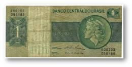 BRASIL - 1 CRUZEIRO - ND ( 1975 ) - P 191A.b - Serie 6303 - Sign. 18 - Prefix B - LIBERTY - Brasil
