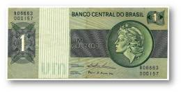 BRASIL - 1 CRUZEIRO - ND ( 1975 ) - P 191A.b - Serie 6663 - Sign. 18 - Prefix B - LIBERTY - Brasil