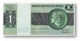 BRASIL - 1 CRUZEIRO - ND ( 1975 ) - P 191A.b - Serie 7314 - Sign. 18 - Prefix B - LIBERTY - Brasil