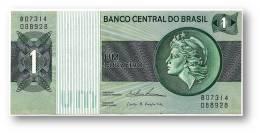 BRASIL - 1 CRUZEIRO - ND ( 1975 ) - P 191A.b - Serie 7314 - Sign. 18 - Prefix B - LIBERTY - Brésil