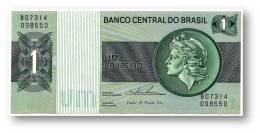 BRASIL - 1 CRUZEIRO - ND ( 1975 ) - P 191A.b - Serie 7314 - Sign. 18 - Prefix B - LIBERTY - Brasilien