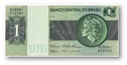 BRASIL - 1 CRUZEIRO - ND ( 1975 ) - P 191A.b - Serie 9981 - Sign. 18 - Prefix B - LIBERTY - Brazil