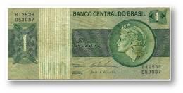 BRASIL - 1 CRUZEIRO - ND ( 1975 ) - P 191A.b - Serie 12538 - Sign. 18 - Prefix B - LIBERTY - Brazil