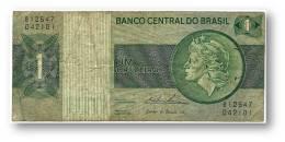 BRASIL - 1 CRUZEIRO - ND ( 1975 ) - P 191A.b - Serie 12547 - Sign. 18 - Prefix B - LIBERTY - Brésil