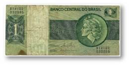 BRASIL - 1 CRUZEIRO - ND ( 1980 ) - P 191A.c - Serie 14102 - Sign. 20 - Prefix B - LIBERTY - Brésil