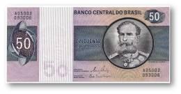 BRASIL - 50 CRUZEIROS - ND ( 1980 ) - P 194.c - UNC. - Serie 5002 - Sign. 20 - Prefix A - Deodoro Da Fonseca - Brasil