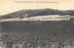 Vignobles De L'Hermitage - Tain L'Hermitage (Drôme) - Publicité Cuvée R. Delepine Et Chapoutier - Carte Non Circulée - Weinberge