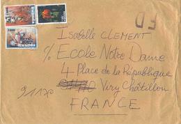 Lettre Pour La France En Fausse Direction _ Fleur - Lis Glorieux - Art -poterie