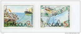 Angola--1990-Barrage Et Pétrole-série*/**MNH-en Bloc De 4