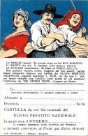[DC3864] CPA - PRESTITO NAZIONALE - UN BUE GRASSO UNA VACCA DA LATTE UN PORCO ADULTO D.FRIGE' - NV - Old Postcard - Guerra 1914-18