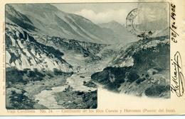 CHILI - Viaje Cordillera - Confluente De Los Rios Cuevas Y Horcones (Puente Del Inca) - N° 24 - Chili