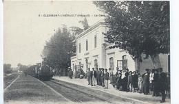 Cpa  -34-  Clermont-l'herault La Gare - Clermont L'Hérault