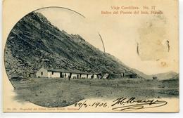 CHILI - Viaje Cordillera - Banos Del Puente Del Inca, Posada - N° 27 - Chile