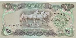 IRAQ 25 DINAR 1980 P-66b LARGE HORSES NOTE AU-UNC */* - Iraq