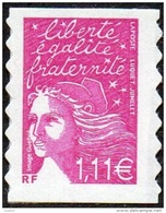 France Autoadhésif N°   48 B ** Ou 3729 D Au Modèle 3574 - Marianne De Luquet Le 1.11 Euro, Lilas - Francia