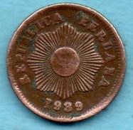 R300/  PEROU 1 Centavo 1939 Km#208,2 - Pérou