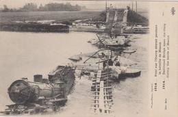 1914 - Pont Sur L'Ourcq Détruit Pendant La Bataille De Meaux - Machine NORD 3.242 - Trains