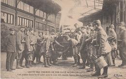 D 75 - Grève Des Chemins De Fer 1910 - Gare Saint-Lazare - Une Cuisine Roulante - Edition A. Taride - Grèves