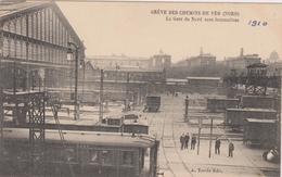 D 75 - Grève Des Chemins De Fer 1910 - Gare Du Nord Sans Locomotives - Edition A. Taride - Grèves