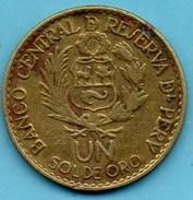 R80/  PERU / PEROU 1 SOL DE ORO 1565 / 1965 (400 Th Anniversary Of LIMA ) - Pérou