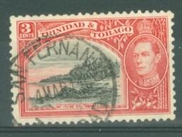 Trinidad & Tobago: 1938/44   KGVI     SG248    3c   Black & Scarlet   Used - Trinité & Tobago (...-1961)