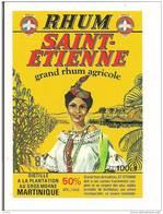 Etiquette   RHUM  SAINT-ETIENNE Agricole 50° 100cl - Plantation Au Gros Morne - MARTINIQUE - Médaille Or 1983 - 1985 - - Rhum