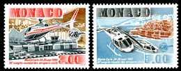 MONACO 1990** - Elicotteri -  2 Val. MNH Come Da Scansione - Helicopters